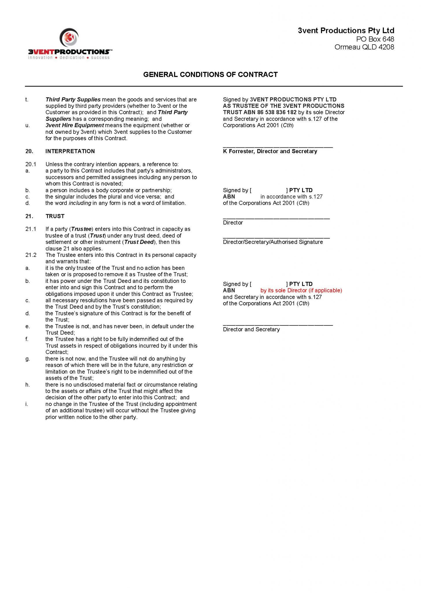 3vent productions terms & conditions 2018 page 6